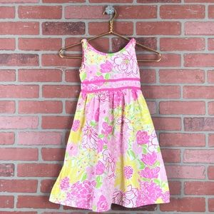 Lilly Pulitzer Girls Size 6 Flower Print Dress